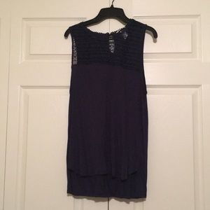Tank with cute crocheted neckline